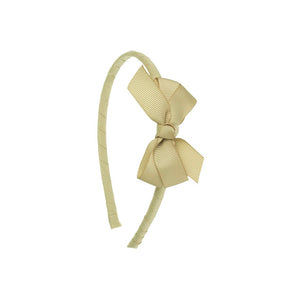 Small Bow Hairband Beige