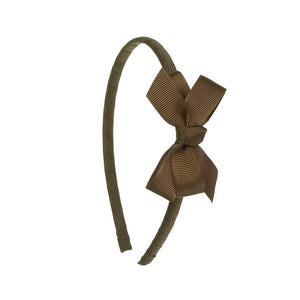 Small Bow Hairband BROWN