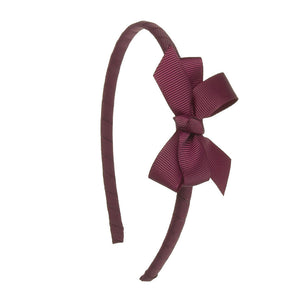 Small Bow Hairband BURGUNDY