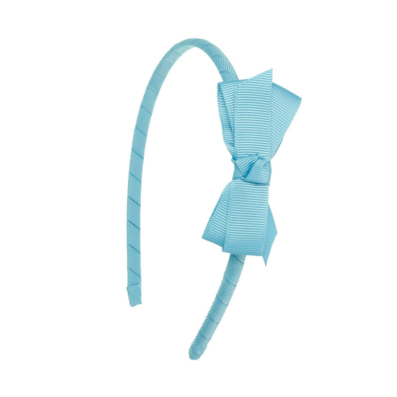 Small Bow Hairband FRENCH BLUE