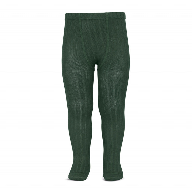 Ribbed Tights BOTTLE GREEN