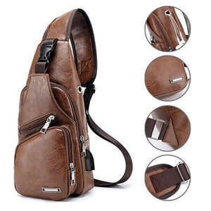Men's USB Leather Crossbody Bag-Buy 2 Get Extra 15%OFF + Free Shipping