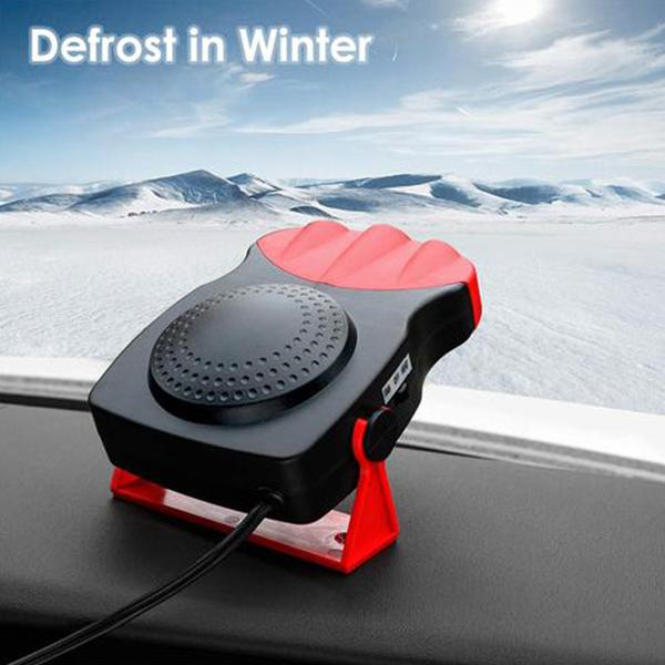 (50% OFF Today) 150W Portable Car Heater Defrosts Defogger