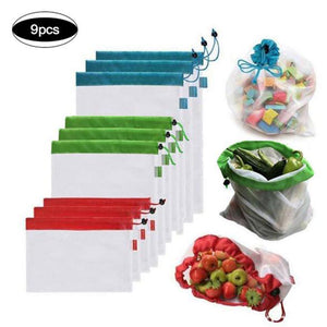 9/12/15 PCS Reusable Produce Bags-Buy 2 Get Extra 10%OFF&Buy 3 Get 4