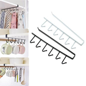 Under-Cabinet Hanger Rack(6 Hooks)