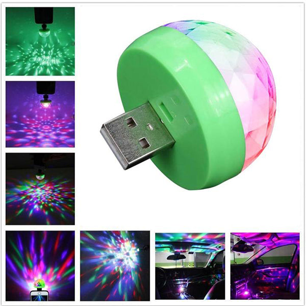 LED Party USB Atmosphere Light Mini Colorful Music Sound Lamp-USB Phone Magic Ball