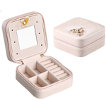 Travel jewelry box, Portable Travel Jewelry Case Earring Holder Necklace Organizer