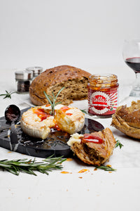 Baked Camembert with Hollah Chilli and Prosecco Jam