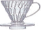 HARIO COFFEE DRIPPER V60 01 CLEAR PLASTIC - Barista Shop