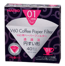 HARIO V60 PAPER FILTER 01 DRIPPER 40 SHEETS - BLEACHED - Barista Shop