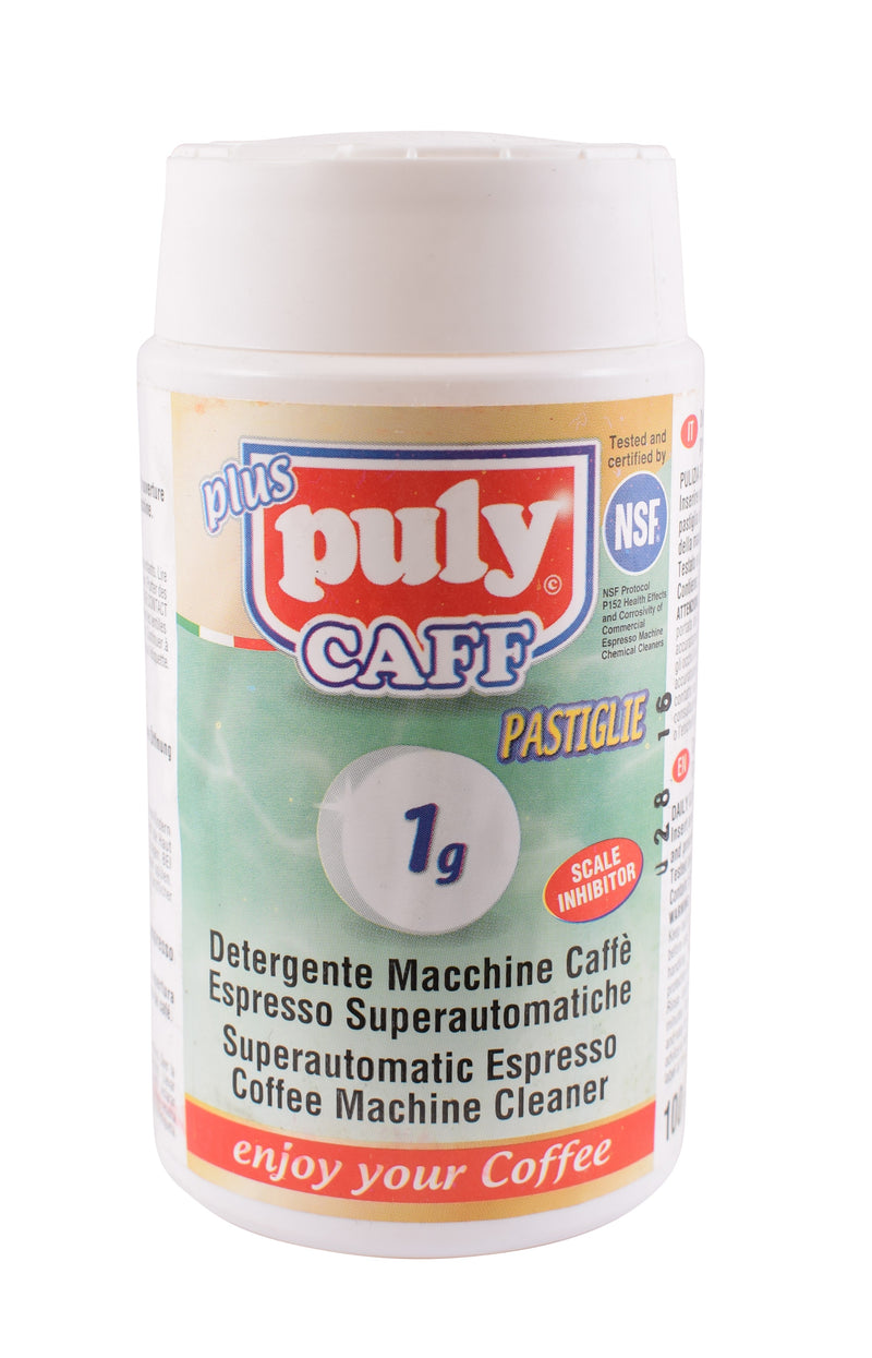 PULY CAFF BEAN TO CUP CLEANING TABLETS TUB OF 100  - 1 GRAM - Barista Shop