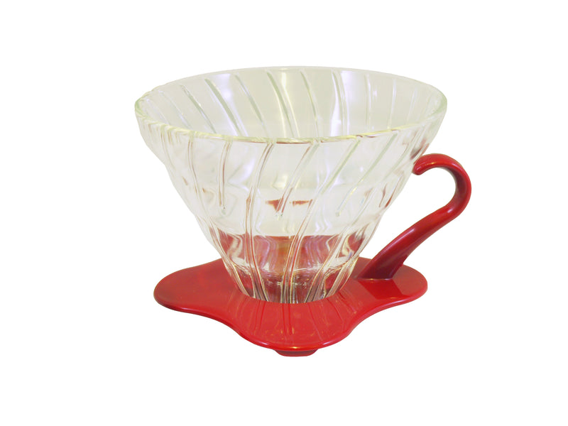 Hario Glass Coffee Dripper V60 - Red/Clear Size 02 - Barista Shop