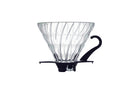 Hario Glass Coffee Dripper V60 - Black/Clear Size 02 - Barista Shop