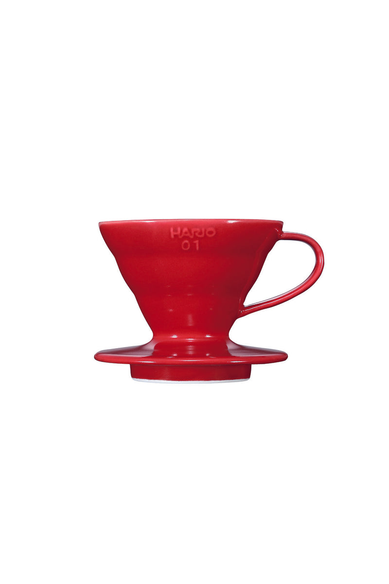 Hario Coffee Dripper V60 Ceramic SIZE 01 - RED - Barista Shop