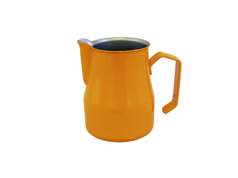 Motta Foaming Jug Teflon Coated (350ml Orange) - Barista Shop