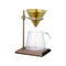 Kinto 4 Cup Brewer Set (Brass and Walnut) - Barista Shop