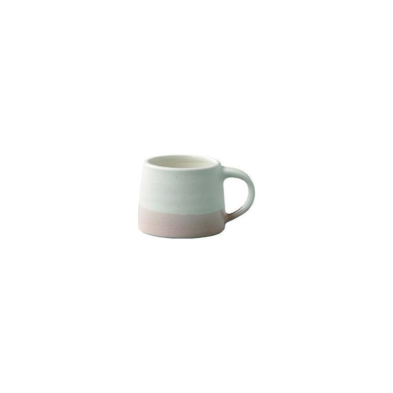 Kinto Dual Colour Small Porcelain Mug  110 ml (White/Pink Beige) - Barista Shop