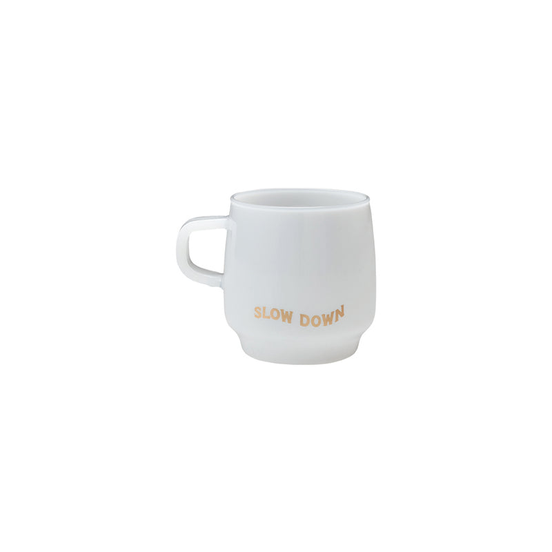 Kinto Mugs with Original Sign Paintings - Think (Glass) 340ml - Barista Shop