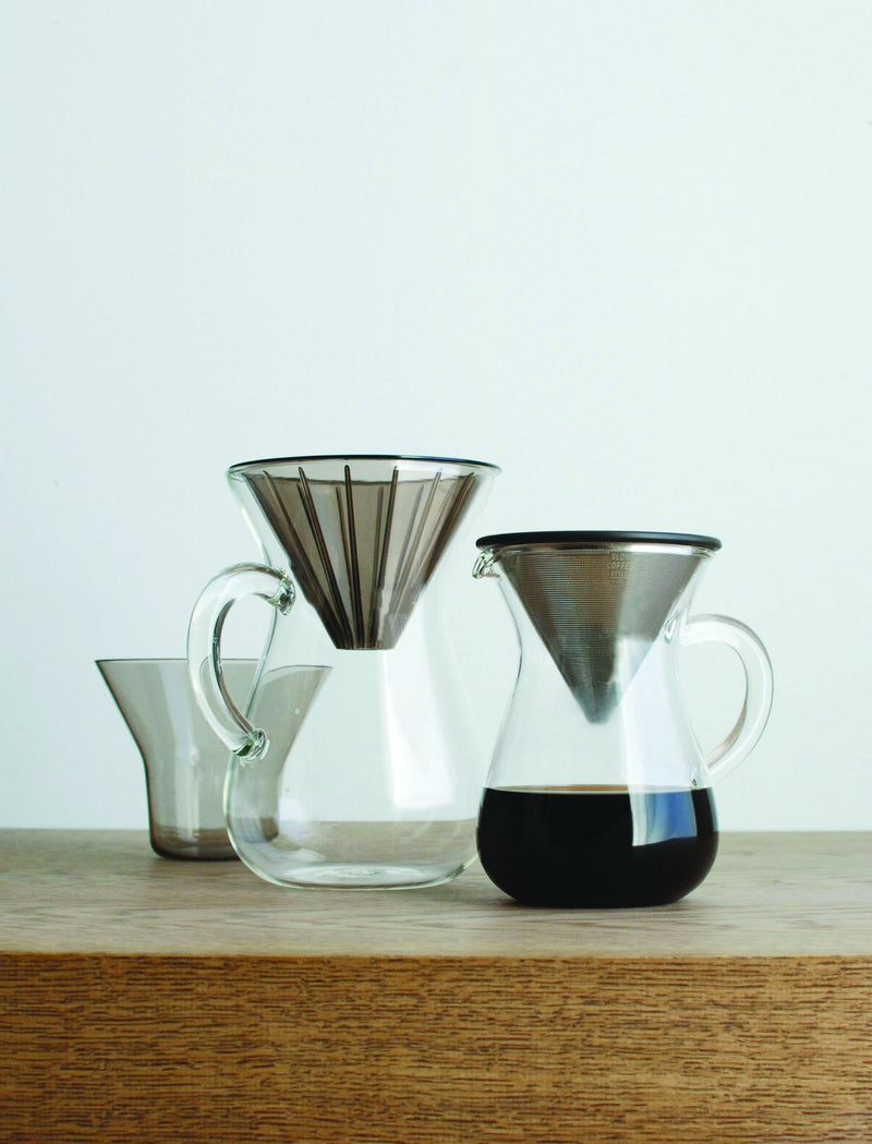 Kinto Coffee Carafe Set Stainless Steel Set 300ml - Barista Shop