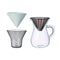 Kinto Coffee Carafe Set Plastic Brewer Set 600ml 4 cup - Barista Shop
