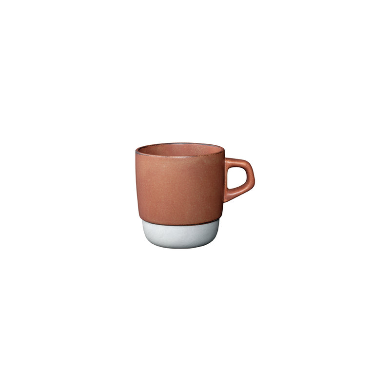 Kinto Stackable Porcelain Mugs - Orange 320ml - Barista Shop
