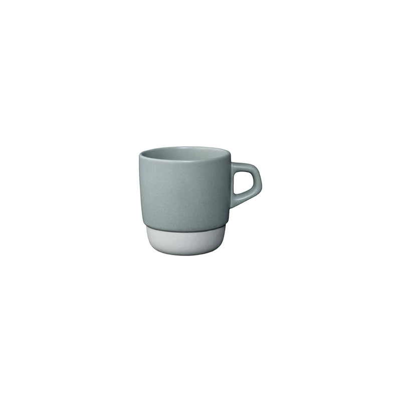 Kinto Stackable Porcelain Mugs - Grey 320ml - Barista Shop
