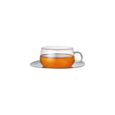 Kinto Glass Cup & Stainless Steel Saucer 230 ml - Barista Shop