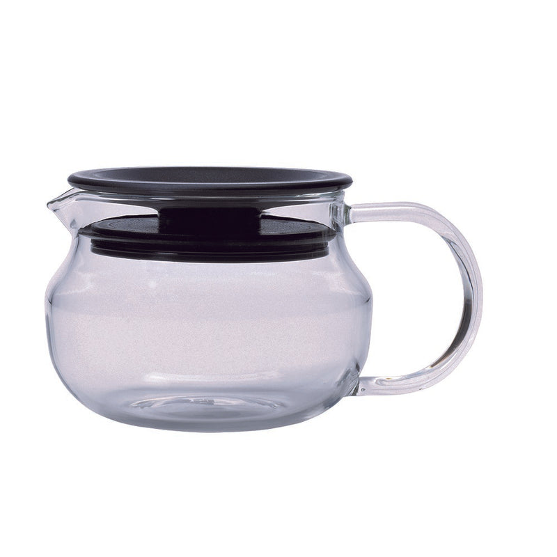 Kinto One Touch Teapot 280 ml (Black Strainer) - Barista Shop