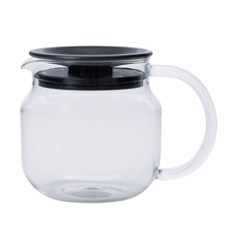 Kinto One Touch Teapot 450 ml (Black Strainer) - Barista Shop