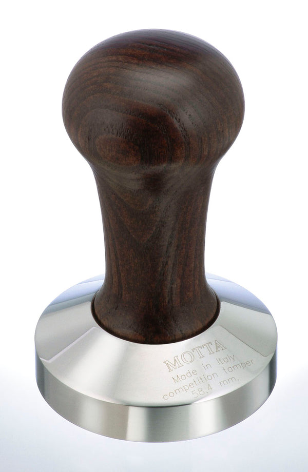 Motta Wooden Competition Tamper 58.4 mm Brown Handle - Barista Shop