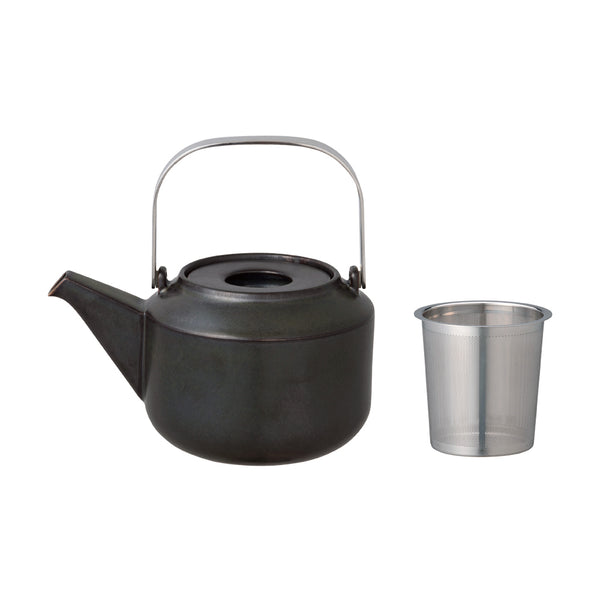 Kinto Leaves to Tea Teapot 600 ml (Black) - Barista Shop
