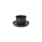 Kinto Leaves to Tea Cup & Saucer 160 ml (Black) - Barista Shop