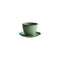 Kinto Pebble Cup and Saucer Moss Green 180ml - Barista Shop