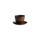 Kinto Pebble Cup and Saucer Brown 180ml - Barista Shop