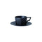 Kinto Oct Cup and Saucer - Balck 220ml - Barista Shop