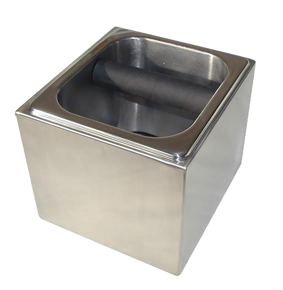 Free Standing Knock Box in Stainless Steel Surround - Barista Shop