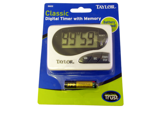 Taylor Digital Timer with Memory - Barista Shop