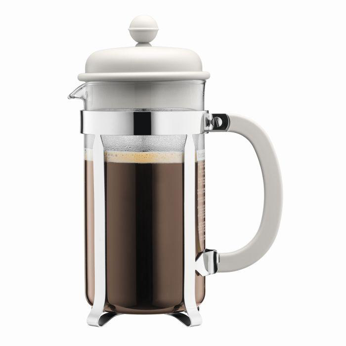Bodum Caffettiera Coffee Maker 1 ltr 34 oz. | Off White - Barista Shop