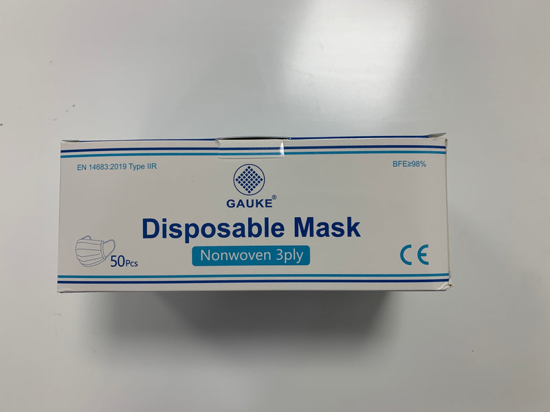 Surgical face masks (box 50) EN certified