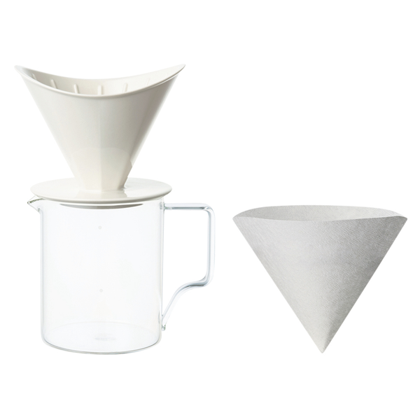 Kinto Oct Brew Jug Set - 4 cup - White - Barista Shop