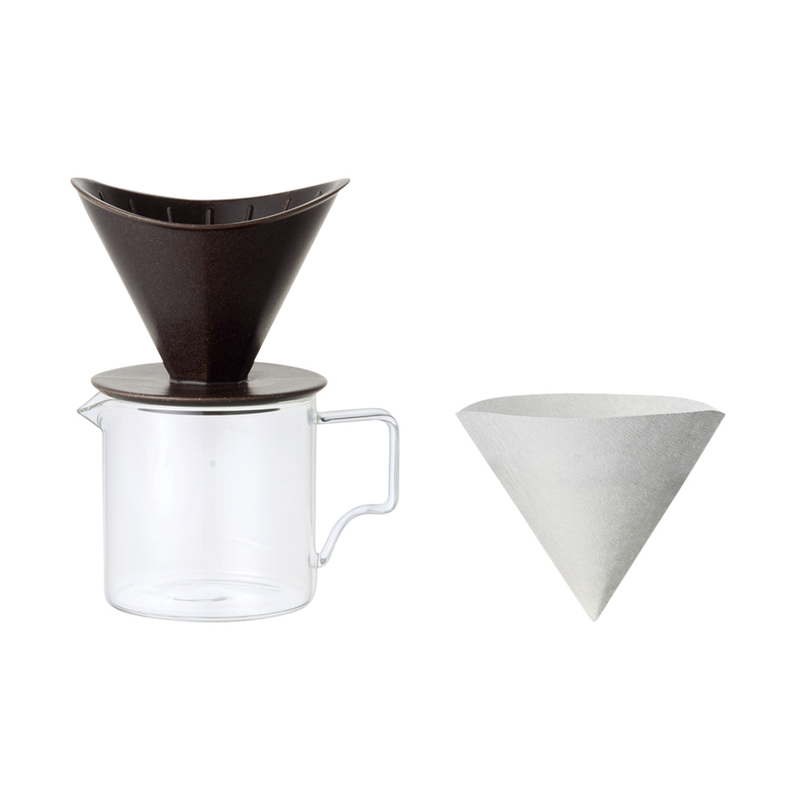 Kinto Oct Brew Jug Set - 2 Cup - Black - Barista Shop