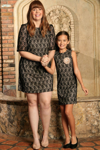 a96f6235043 Black Lace Gorgeous Party Unique Shift Mommy and Me Dress Plus Size