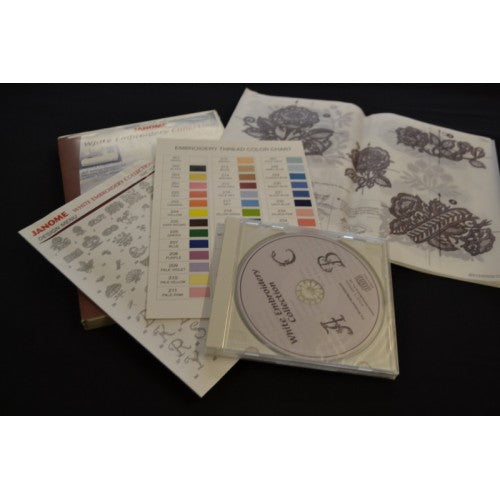 JANOME WHITE EMBROIDERY COLLECTION EMB DESIGN CD