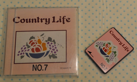 BROTHER Embroidery Design Card - No.7 Country Life (pre-owned)