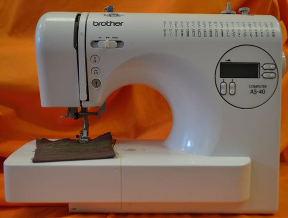 BROTHER AS-40 Free Arm Electronic Sewing Machine.(Pre-owned)