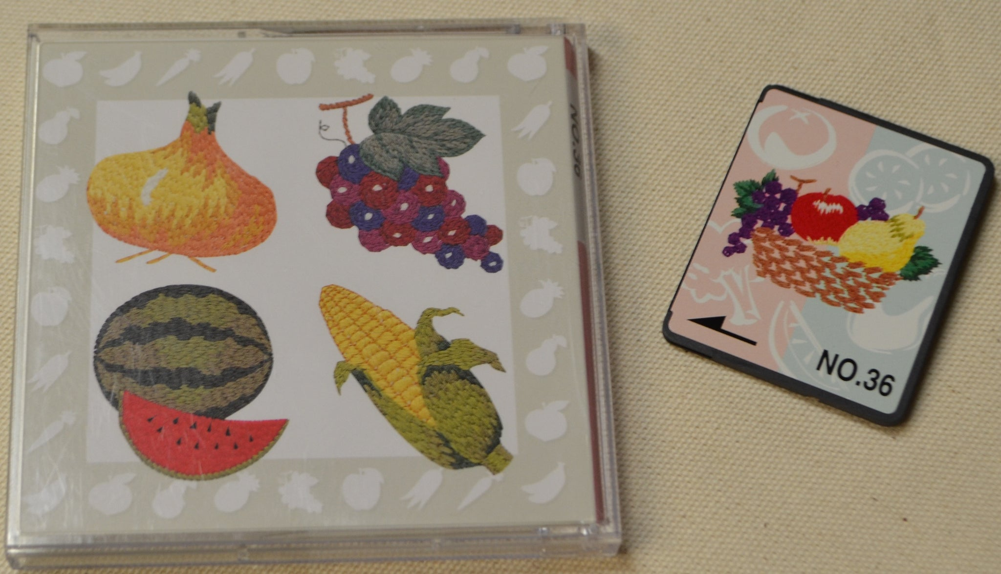 Brother Embroidery Design Card No 36 Fruit Vegetables Pre Owned