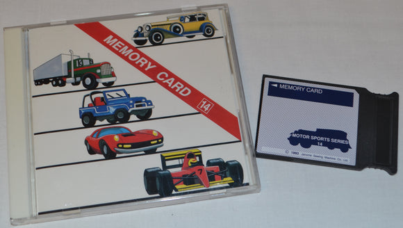 JANOME Embroidery Card No. 14 MOTORSPORTS SERIES