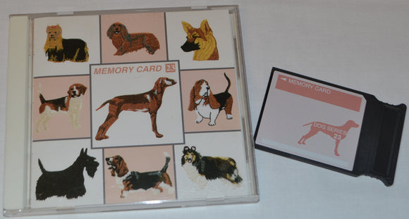 JANOME Embroidery Card No. 23 - DOGS