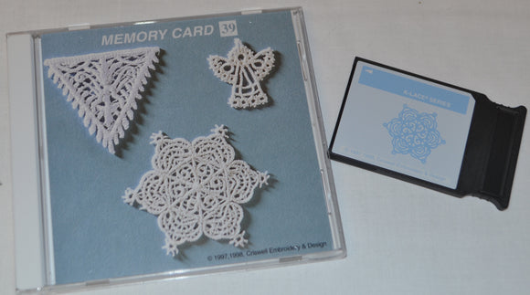 JANOME Embroidery Card No. 39 - K LACE