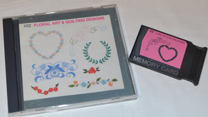 JANOME Embroidery CardNo.102 - FLORAL ART & QUILTING